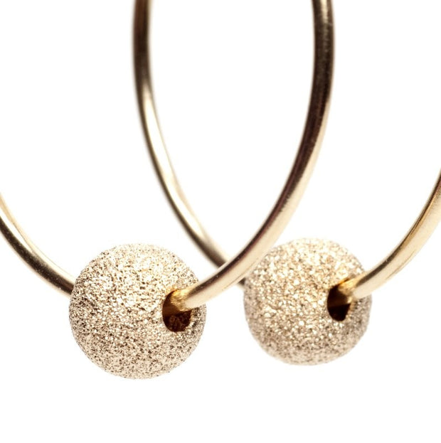 "Goldfill ""Sparkle Ball"" Hoop Drops"
