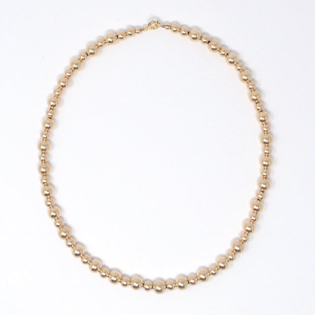 6mm & 8mm 14k Goldfill Beaded Necklace