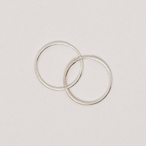 Medium Sterling Silver Endless Hoop Earrings