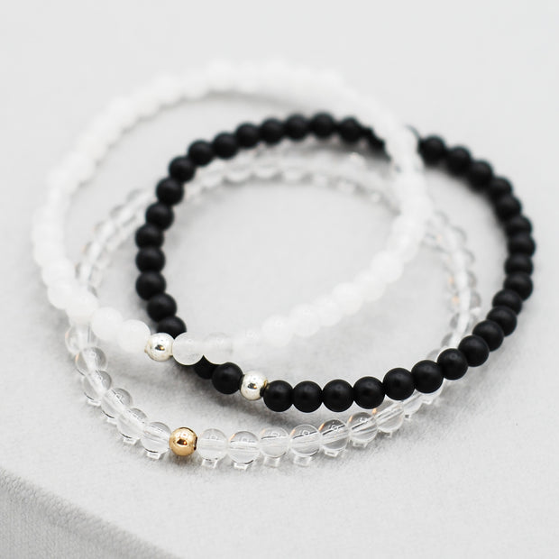 4mm Beaded Gemstone Bracelet