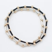 4mm Beaded Lux Color Tube Bracelet