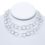 13mm Sterling Silver Long Chain