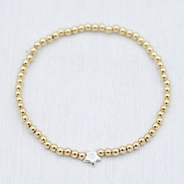 Goldfill & Sterling Silver Star Bracelet