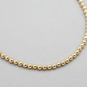 6mm 14k Goldfill Beaded Necklace