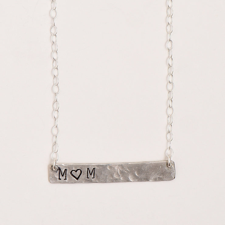 Personalized Sterling Silver Mom Necklace