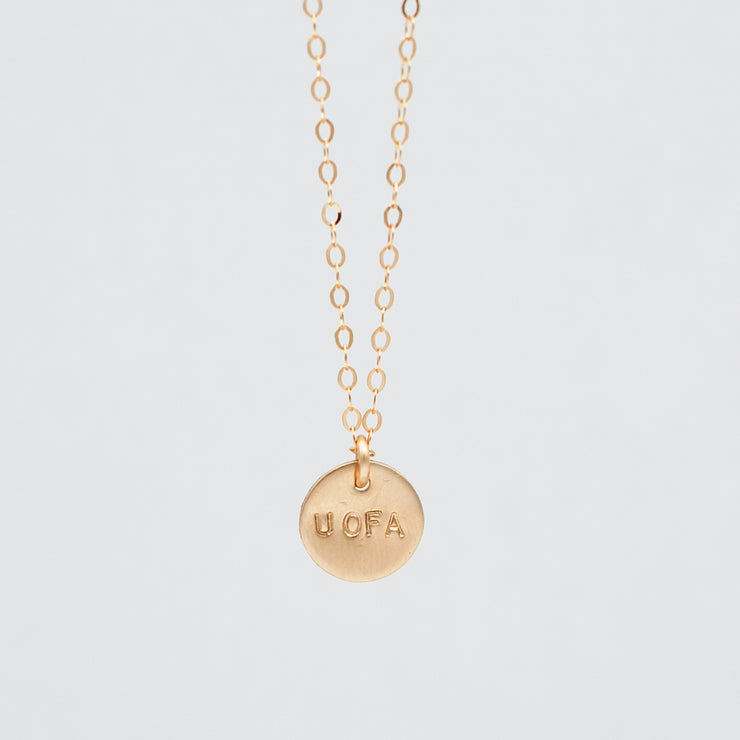 Personalized School Spirit 14k Goldfill Necklace
