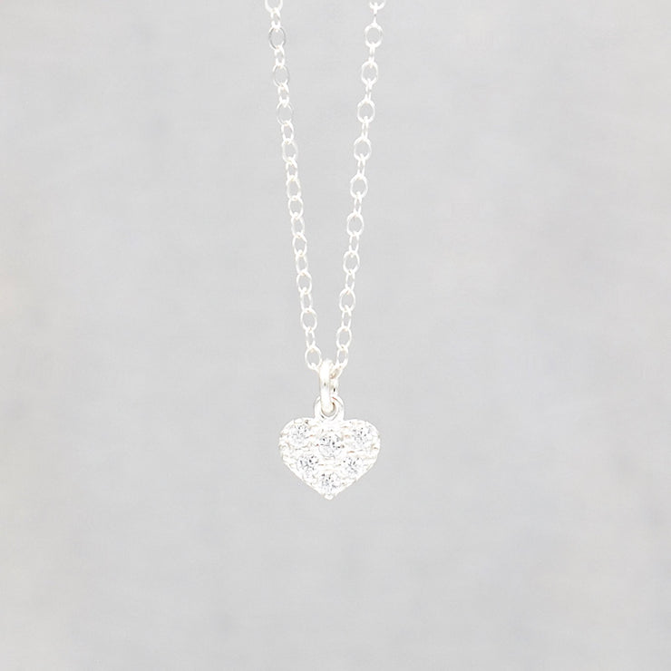 Cubic Zirconia Heart Necklace