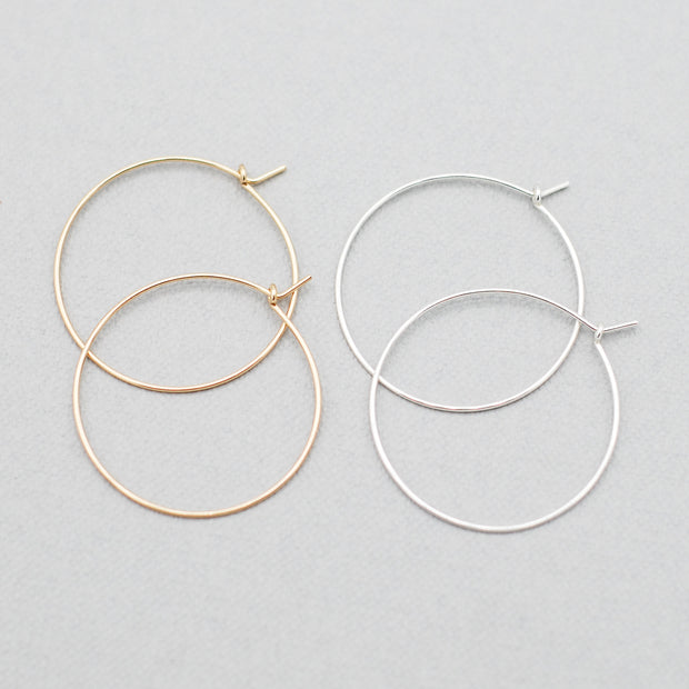 Sterling Silver & Goldfill Everyday Hoop Set