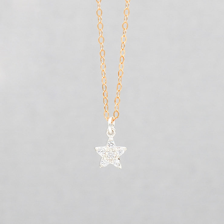 Cubic Zirconia Star Necklace
