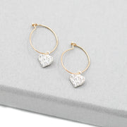 Hoops & Cubic Zirconia Heart Drops