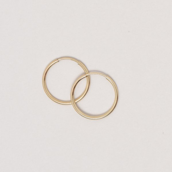 Small Goldfill Endless Hoop Earrings