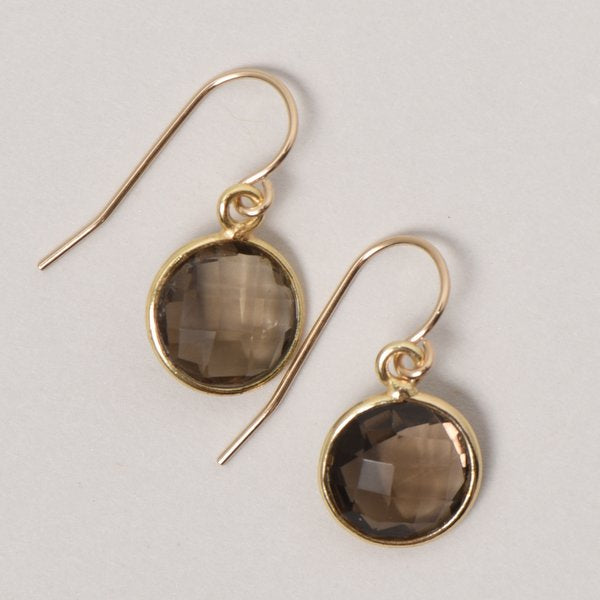 Smoky Quartz & Vermeil Earrings