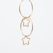Goldfill Star Hoop Drops