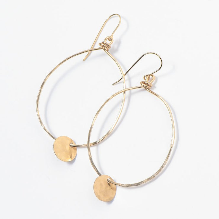 Goldfill Hand Shaped Earrings
