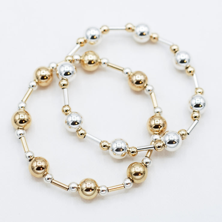 4mm & 8mm Beaded Lux Tube Bracelet