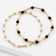 Beaded Lux Tube Bracelet