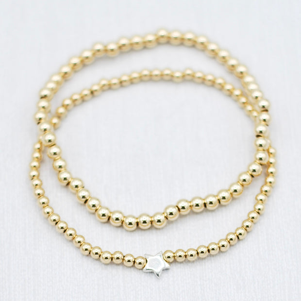 Goldfill Star Bracelet Set