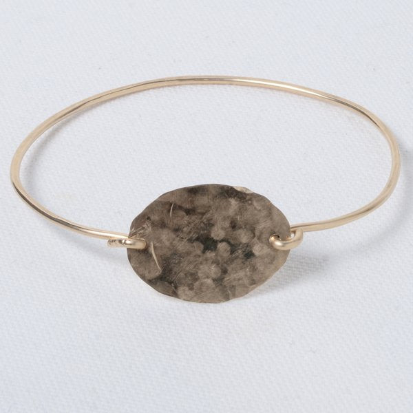 Hand Shaped Goldfill Bangle