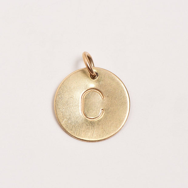 "1/2"" Goldfill Hand Stamped Charm"