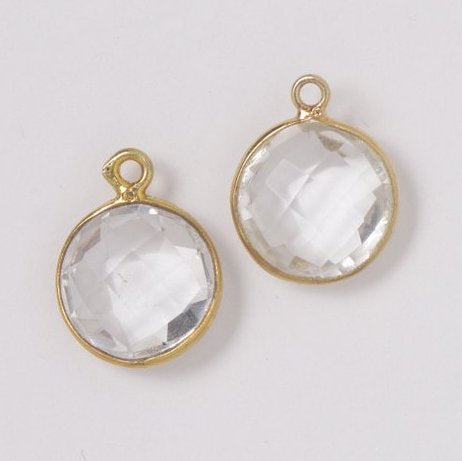 Crystal Quartz Hoop Drops