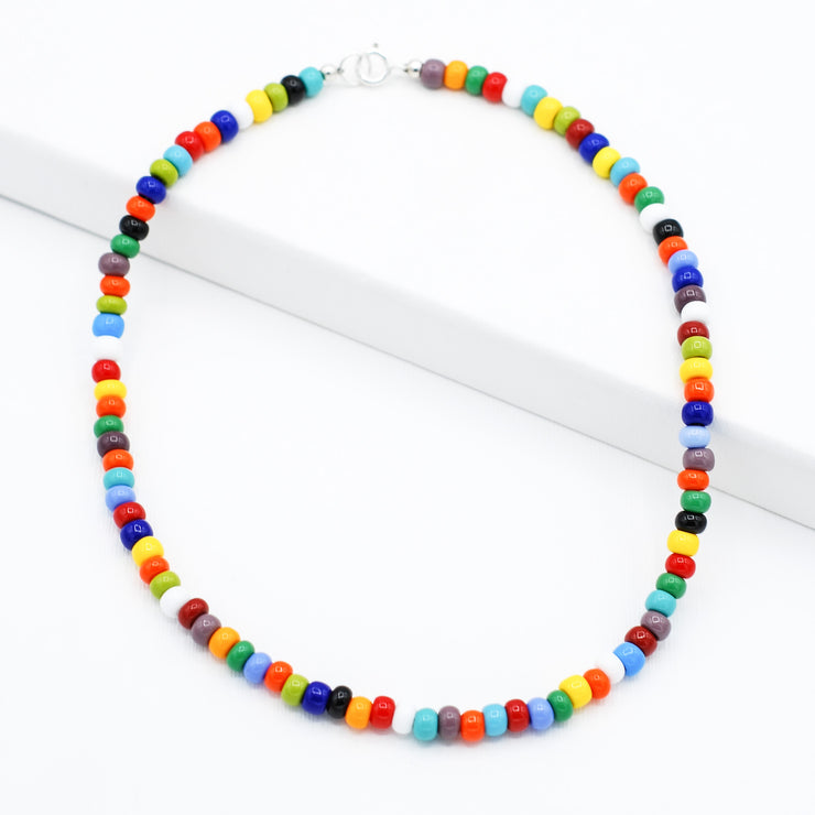 Multicolor Candy Seed Bead Necklace