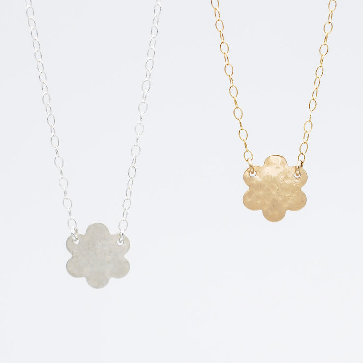 Flower Goldfill Necklace