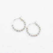 Small Sterling Silver 2.5mm Beaded Hoops