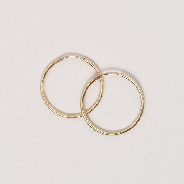 Medium Goldfill Endless Hoop Earrings