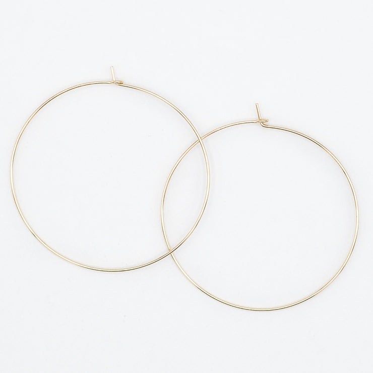 14k Goldfill Hoop Earrings