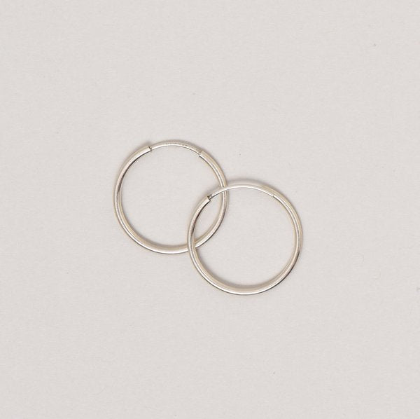 Small Sterling Silver Endless Hoop Earrings