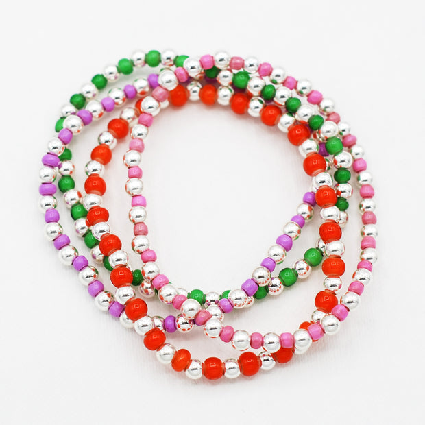 Color Seed Bead & Beaded Lux Bracelet