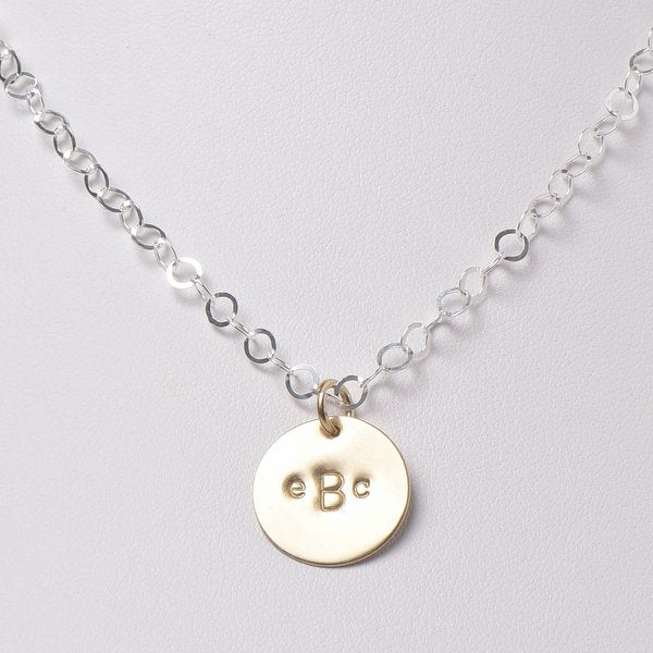 Monogram Sterling Silver & Goldfill Necklace