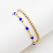 Goldfill Tube & Color Seed Bead Bracelet Set