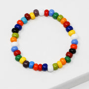 Multicolor Candy Seed Bead Bracelet