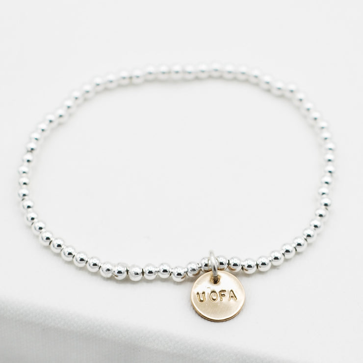 Personalized School Spirit 3mm Sterling Silver Bracelet