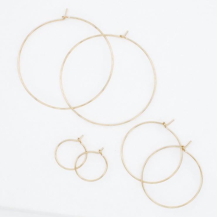14K Goldfill Hoop Trio Set
