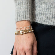 "Goldfill & ""Sparkle Ball"" Bracelet"