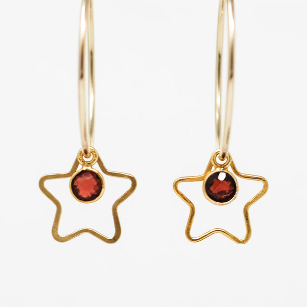 Hoops, Stars & Gemstone Set