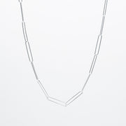 Sterling Silver XXL Paper Clip Layering Chain