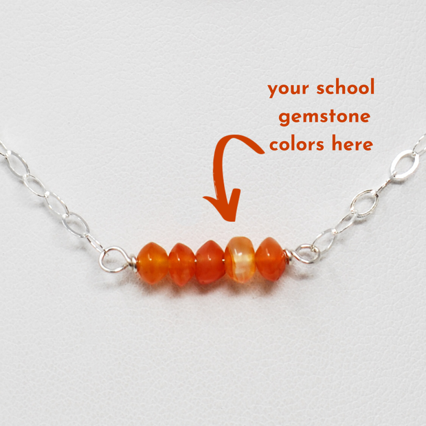 Carnelian & Sterling Silver School Spirit Necklace