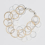 Sterling Silver & Goldfill Hammered Bracelet