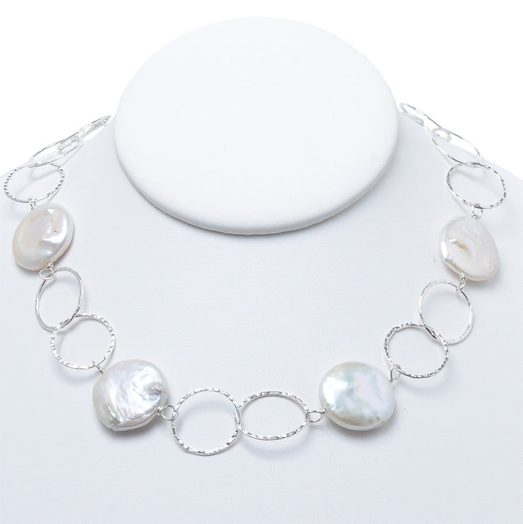 Freshwater Pearl & Sterling Silver Necklace