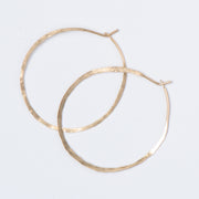 Hand Hammered & Shaped Goldfill Hoop Earrings