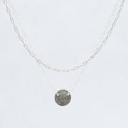 Sterling Silver Small Paper Clip Chain & Necklace Layering Set