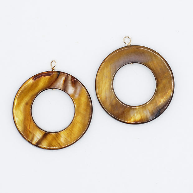 Mother of Pearl Hoop Drops