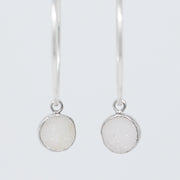 Hoops & White Druzy Drops