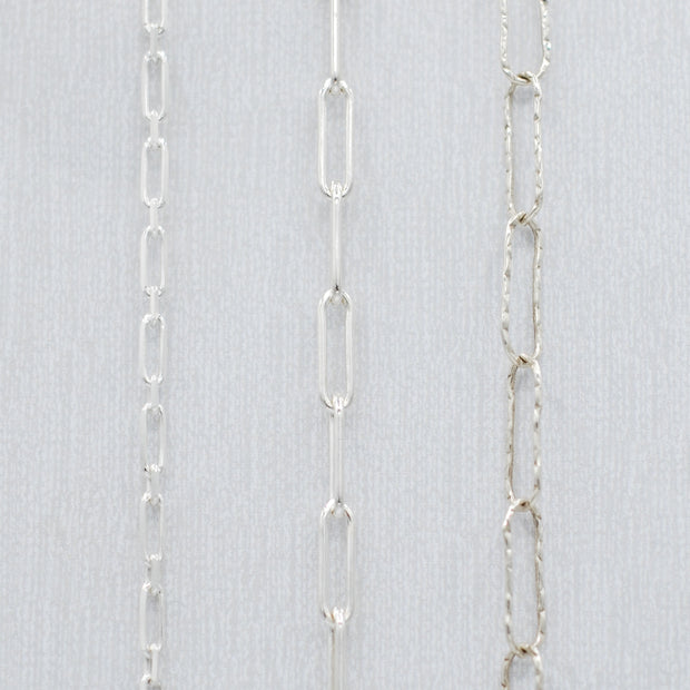 Sterling Silver Paper Clip Chain Bracelet