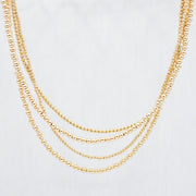 3mm 14k Goldfill Beaded Necklace