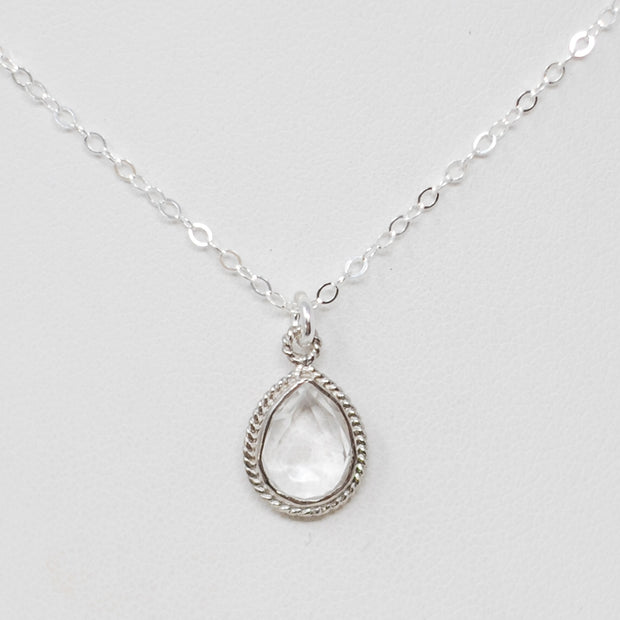 Crystal Quartz & Sterling Silver Necklace