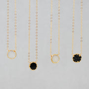 Black Druzy Necklace